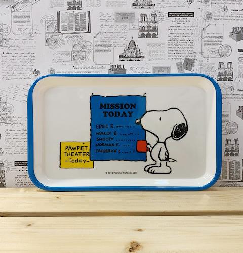 【震撼精品百貨】史奴比Peanuts Snoopy ~SNOOPY方形盤-藍白#75981