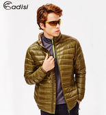 ADISI 男超輕量撥水羽絨外套AJ1521001(S~3XL) / 城市綠洲專賣(防潑水、超輕量羽絨、機能性布料)
