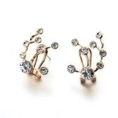 耳環 925純銀鑲鑽-大方經典情人節生日禮物女耳針2色73gt115【時尚巴黎】