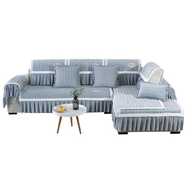 冬季沙發墊毛絨全包萬能套布藝沙發套沙發罩全蓋四季通用防滑坐墊