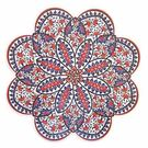 【土耳其精品】花瓣造型陶瓷隔熱墊 -藍底紅花