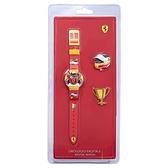 【Ferrari 法拉利】競速賽車電子兒童腕錶套組+替換面蓋-急速紅/FA0810004/台灣總代理享兩年保固