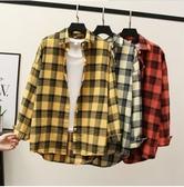 長袖格子襯衫長袖襯衫010 實拍廠家直銷不下架三色格子女襯衫M1FA051C 衣人有約