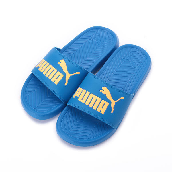PUMA POPCAT JR 一片套式拖鞋 藍橘 365849-12 大童鞋 鞋全家福