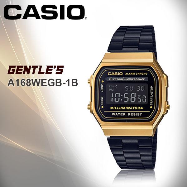 CASIO 卡西歐 手錶專賣店 A168WEGB-1B 時尚 電子男錶 不鏽鋼錶帶 背光照明