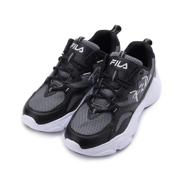 FILA 草書標誌老爹鞋 黑灰 1-J324V-441 男鞋