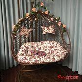 吊籃 吊椅家用吊籃陽台秋千藤椅吊椅單雙人室內鳥巢成人懶人網紅搖籃椅T 3色