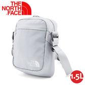 【The North Face 1.5L 側背包《灰白》】3BXB/斜背包/隨行包/零錢包/運動/跑步
