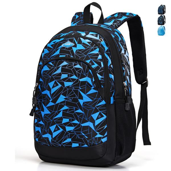 韓版防水後背包 男雙肩書包 可放15吋筆電《印象精品》y874