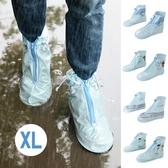 防雨套 鞋子專用 防滑防水 騎車 短版雨鞋套 拉鍊式短筒加厚鞋套(XL) ✭米菈生活館✭【B17-1】
