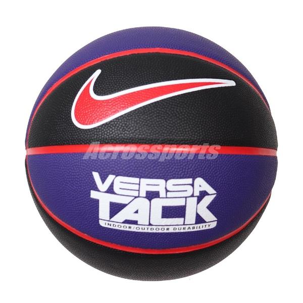 Nike 籃球 Versa Tack 8P No.7 紫 黑 標準7號球 室內 室外 【ACS】 N000116404-907