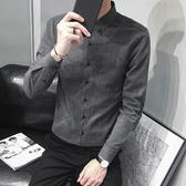 ins超火的襯衫男長袖秋季新品韓版青年潮流休閒百搭帥氣男士襯衣