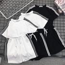 運動套裝 2020夏新款韓版寬鬆短袖短褲學生休閒運動服套裝女港味跑步兩件套 裝飾界