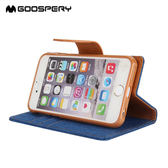 King*Shop~ 韓國goospery 蘋果iPhone7機殼Phone7  4.7吋保護套时尚新帆布翻蓋皮套