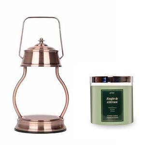 (組)EPOCHSIA x Pray 守夜人金屬香氛蠟燭暖燈(L)-紅棕銅+柑橘