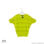限定回饋【INI】優雅質感、專櫃細膩格紋針織上衣.綠色