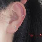 耳釘 精致mini個性別針珍珠星芒小耳釘耳骨釘女氣質 vk4317