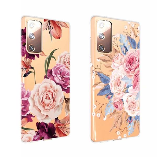 三星 Note20 Note20 Ultra Note10 Lite Note10 Note10+ 花卉透底殼 手機殼 全包邊 彩繪 軟殼 保護殼
