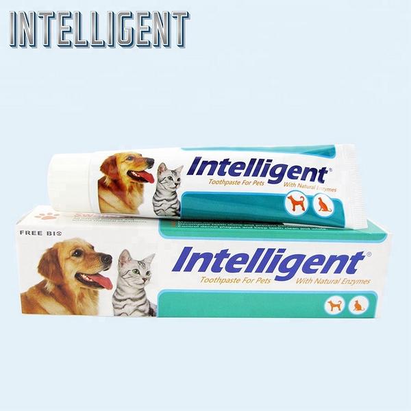 Intelligent 因特力淨寵物酵素牙膏80g *3條 贈 7pets 寵物皂 (毛寶貝專用 天然 手工皂條)*1