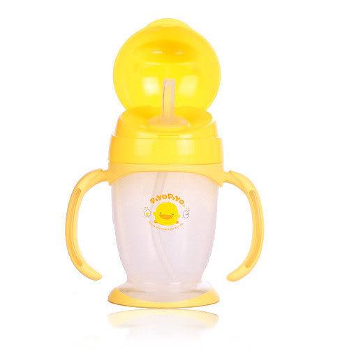 【奇買親子購物網】黃色小鴨四階段訓練杯(吸管型)200ML