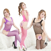 性感女開襠露乳網襪極度誘惑透明連體全身絲襪網衣火辣漁網襪套裝