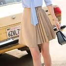 俏麗腰綁結壓褶短裙 [20X007-PF...
