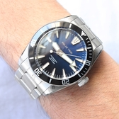 RELAX TIME RT-77 海神系列 300米潛水機械錶-藍x黑圈/44mm RT-77-1-1