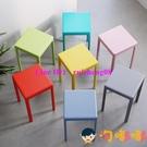 北歐塑料高凳子加厚家用疊放膠板凳簡約餐桌...