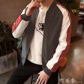 男士休閒外套個性韓版夾克帥氣學生修身衣服潮流男裝 町目家