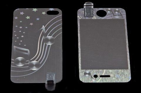 USAMS 3D 雷射Laser 高耐磨 手機螢幕保護貼膜 Apple iPhone 4S 音符 (二片裝)