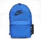 Nike 後背包 Heritage Printed 男女款 點點 圓點 復古 基本款 雙肩背 包包 書包 藍 黑 【ACS】 BA5761-403