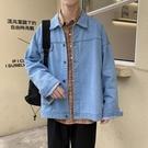 復古ins工裝牛仔單寧夾克 韓版春秋新款潮流學生 寬鬆百搭開衫外套上衣 『bad boy時尚』