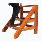 簡易家用腳踏板加厚木質小爬梯實木人字臺階凳登高舞臺單側樓梯子可定做 小山好物