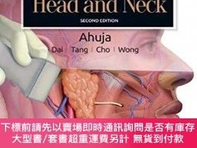 二手書博民逛書店Diagnostic罕見Ultrasound: Head and Neck 2nd Edition,超聲診斷:頭部