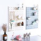 【加購品】洞洞板 牆面裝飾收納架(單片) 置物架自由組裝強力黏膠免釘免鑽 (白色)