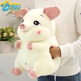 可愛白色小豬毛絨玩具暖手抱枕軟體仿真豬公仔睡覺抱布娃娃禮物女