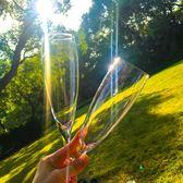 618好康鉅惠 香檳杯套裝小奢華2個家用水晶玻璃歐式高腳杯