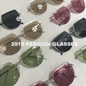新款網紅茶色墨鏡女韓版多邊形圓框太陽鏡ins個性百搭眼鏡 color shop