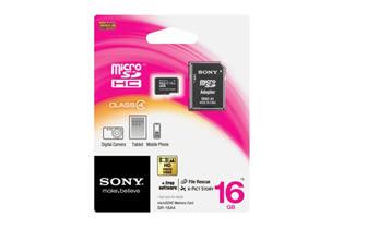 Sony Micro SDHC-Class4 16G記憶卡 SR-16A4/T1 公司貨 對應 SDHC 適用機種 內含SD轉接卡