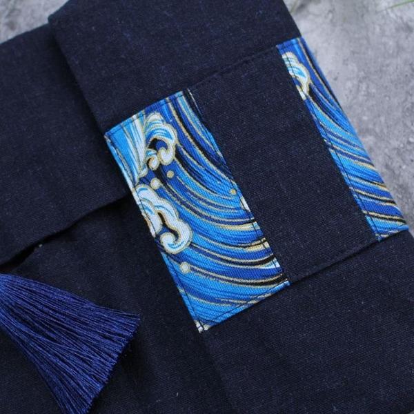 鉛筆盒 布藝手工復古文藝筆袋日系男女商務筆捲鋼筆收納文具包 青木鋪子