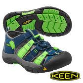 Keen Newport H2 兒童護趾水陸兩用鞋 藍/螢光綠 1014264