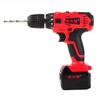 食尚玩家 優力特21v鋰電鑽手電鑽家用220v充電式電鑽電動螺絲刀起子多功能