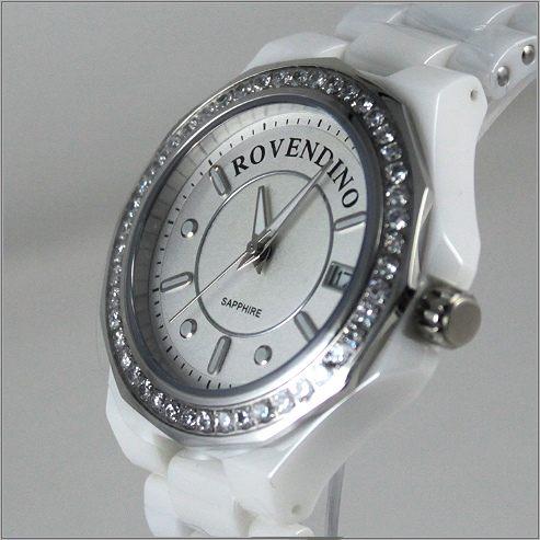 【萬年鐘錶】 Roven Dino 羅梵迪諾 白 水晶陶瓷錶 RD6046