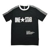 CONVERSE系列 男款黑色 運動短袖 -NO.10016941-A04