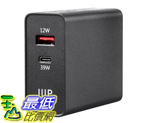 [9美國直購] Monoprice 充電器 Obsidian Speed Plus USB Wall Charger, 2-Port, 39W PD + 2.4A Output for Laptops