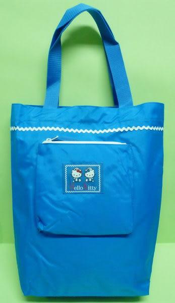 【震撼精品百貨】Hello Kitty 凱蒂貓~手提袋肩背包『海軍』長版