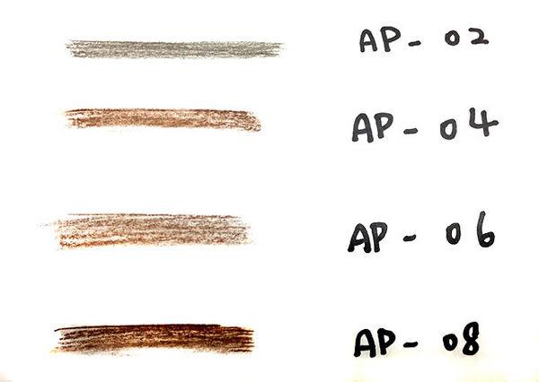 ◇天天美容美髮材料◇ 艾柏莎 眼眉筆蕊 (2入) 黑灰色 AP-02R [10397]