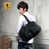 肩背包 霧面尼龍雙口袋男包女包側背包包 NEW STAR BB03