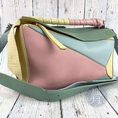 BRAND楓月 LOEWE 彩色 粉彩 皮革拼接 MEDIUM PUZZLE 手提包 側背包 斜背包