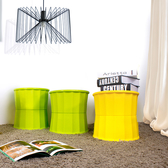 HOUSE【005163】果凍雙合止滑椅-小款(4入組)-綠、黃色,兩色可選 台灣製造